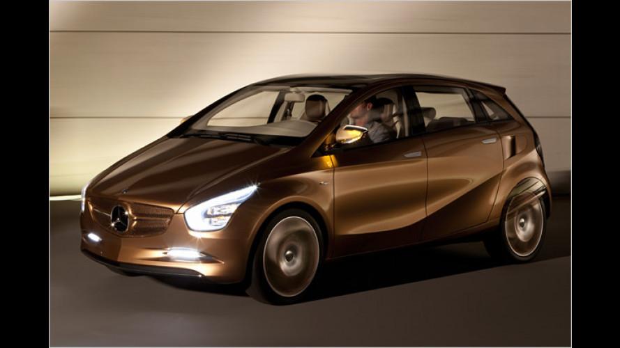 Mercedes BlueZero E-Cell Plus: Elektroauto mit Benzin-Rucksack