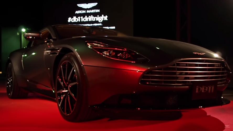 Vidéo - Aston Martin présente sa DB11 à Osaka avec un spectacle de drift