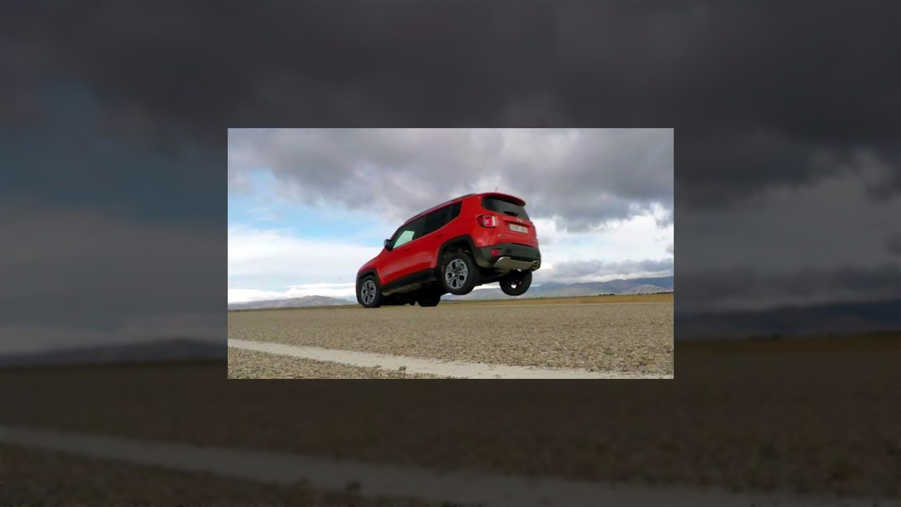 Jeep Renegade rear wheel lift