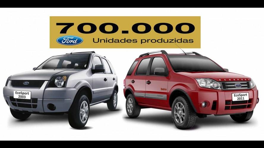 Ford EcoSport chega à marca de 700.000 unidades produzidas no Brasil
