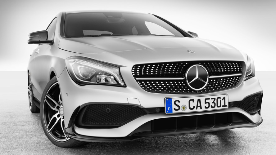 Mercedes CLA with Mercedes-AMG accessories