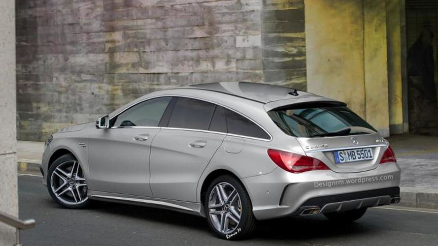Mercedes-Benz CLA 45 AMG Shooting Brake render looks like an official image