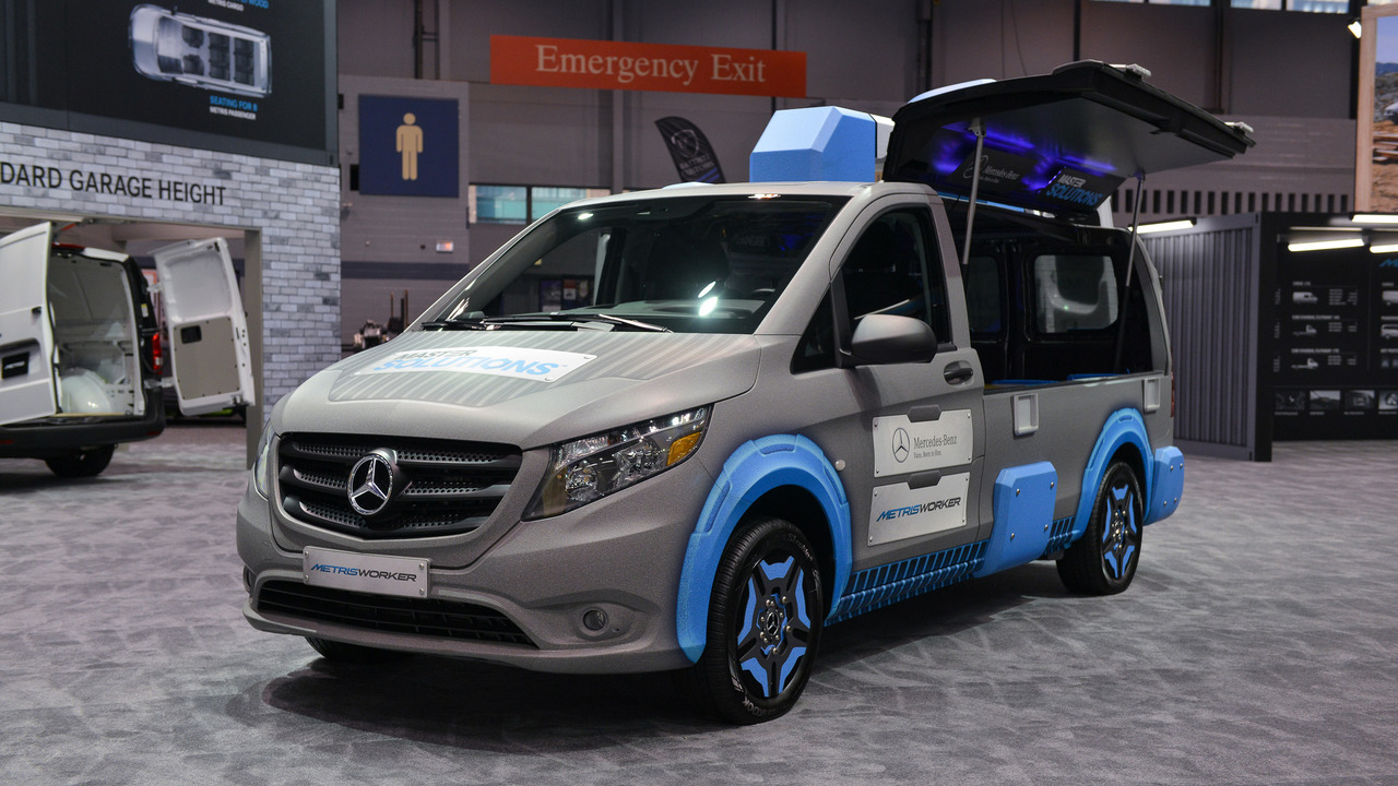 Mercedes metris toolbox concept even has its own handle on top for Mercedes benz chicagoland