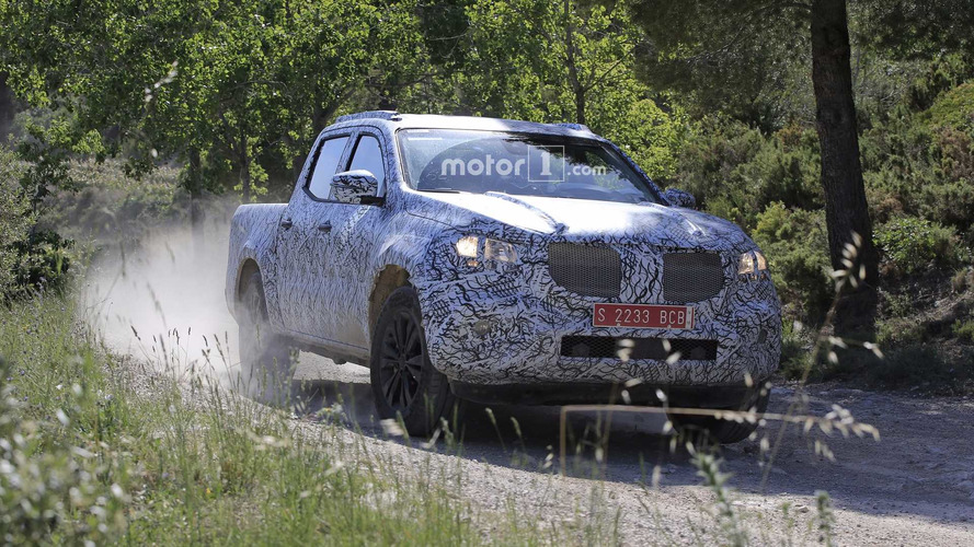 2018 Mercedes X-Class Spied On And Off Road