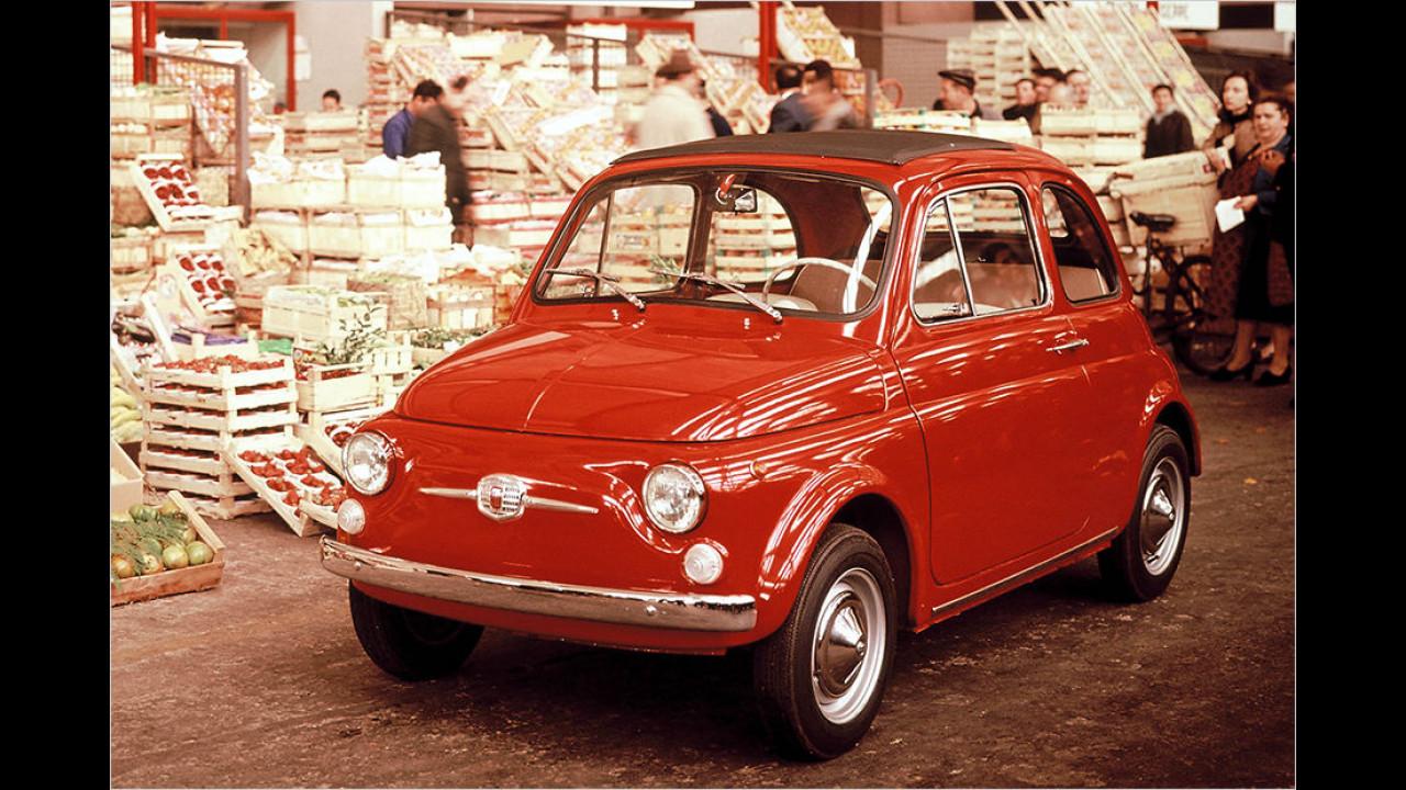 Platz fünf seit 1999: Fiat 500F