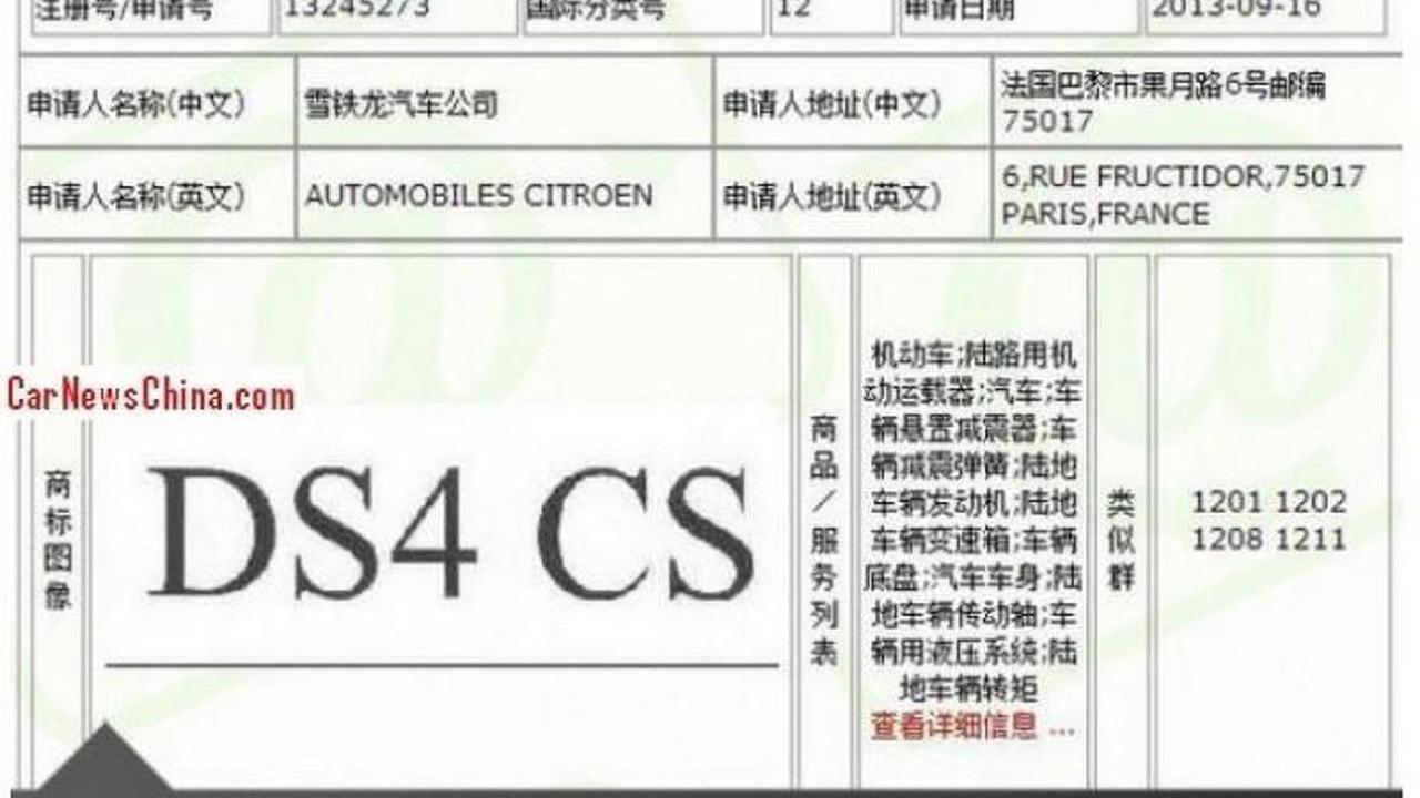 Citroen DS4 CS