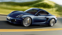 2013 Porsche Cayman artists rendering