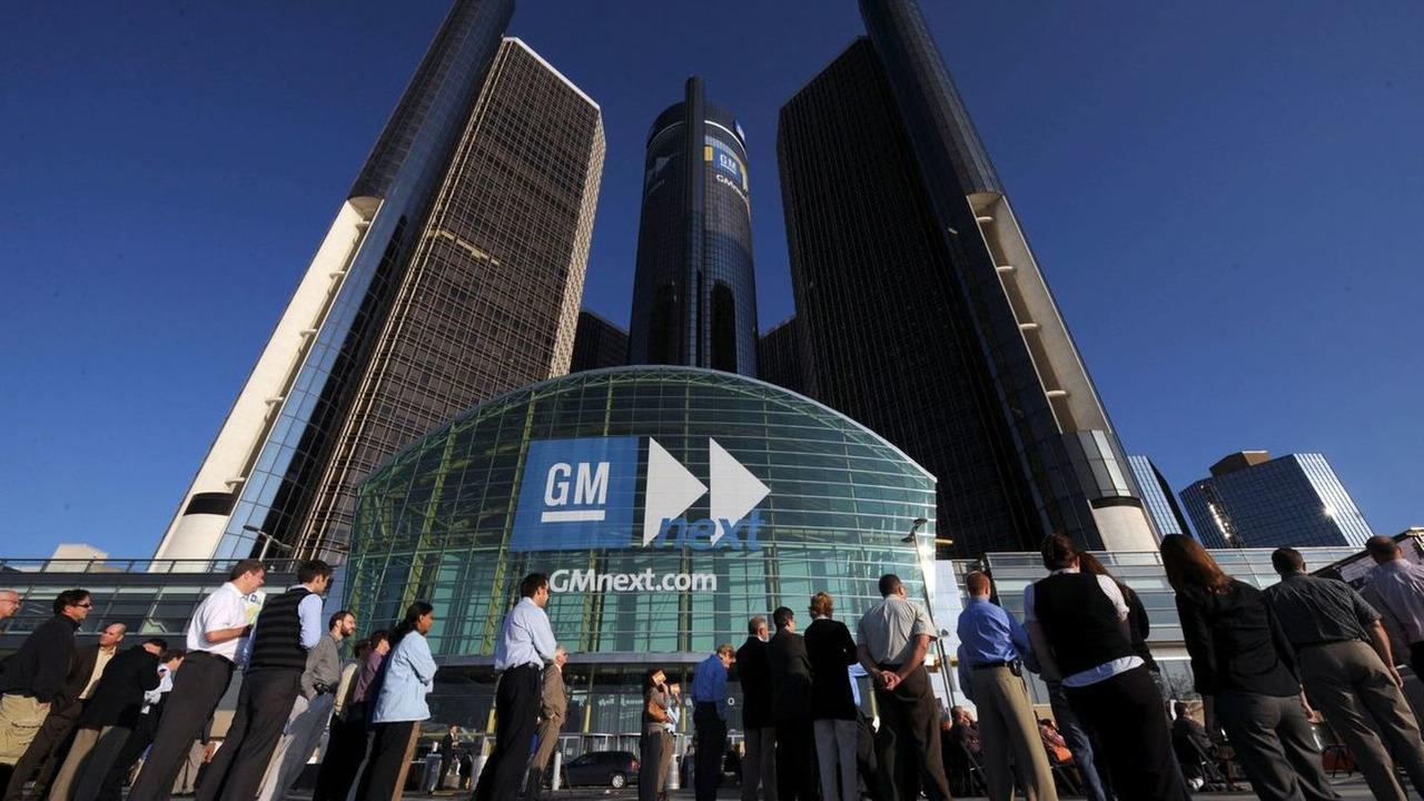 Gm World Headquarters At The Renaissance Center In Detroit Michigan