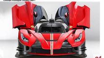 Ferrari LaFerrari Le Mans LMP1 race car rendering / Daniele Pelligra