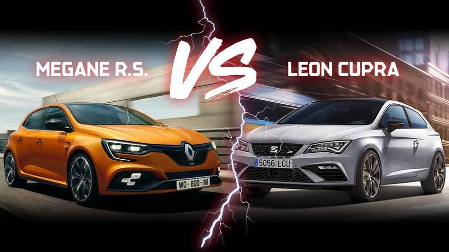 Comparatif - Renault Mégane R.S. vs SEAT Leon Cupra