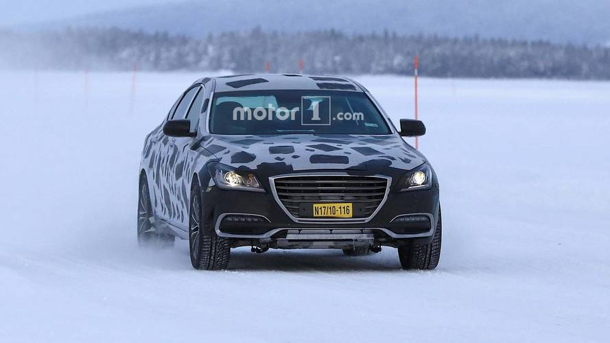 Genesis G80 Test Mule Spy Shots