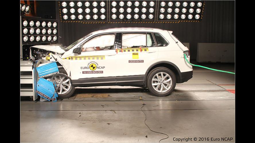 Drei Neuheiten im EuroNCAP-Crashtest