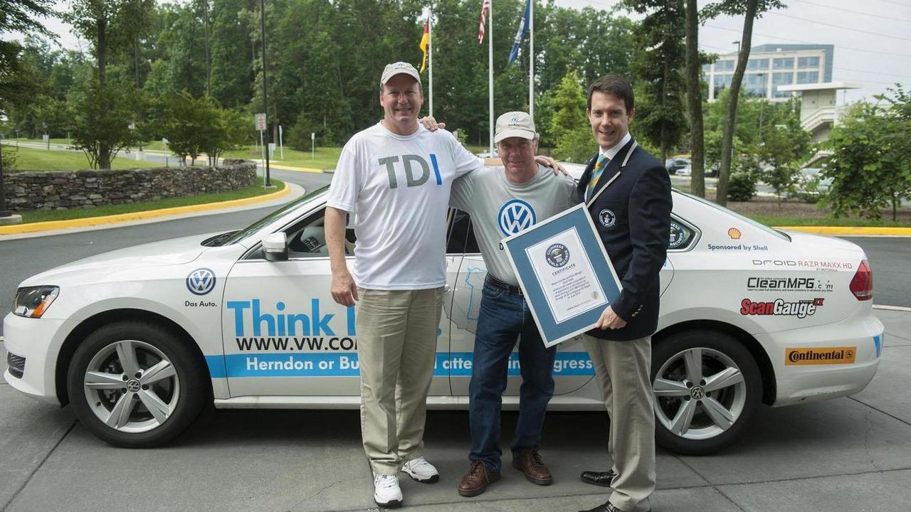 Volkswagen Passat TDI Guinness World Record 24.6.2013