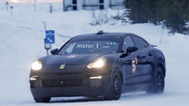 Porsche electrified test mule spy photos