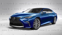 2018 Lexus LS speculative render