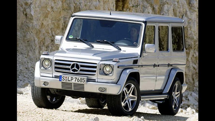 Mercedes G 55 AMG: Der Sport-Offroader wird aufgewertet