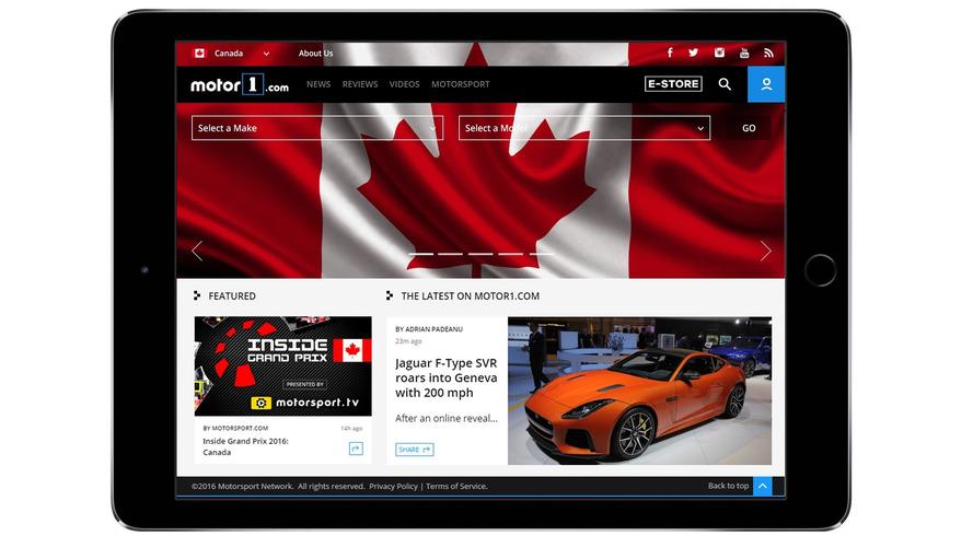 Motor1.com launches Motor1.com-CANADA