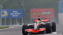 Lewis Hamilton in his McLaren MP4-23