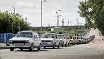 Ford Fiesta marks 40 years of production with convoy of classics