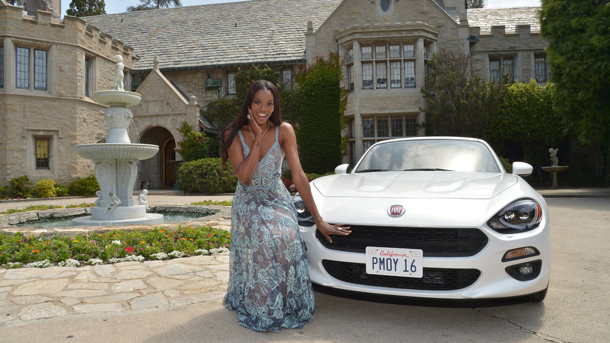 Last nude Playboy Playmate of the Year earns a Fiat 124 Spider & $100K