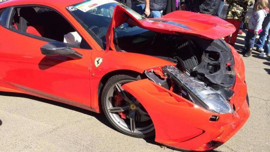 Ferrari 458 Speciale severely damaged at track day in South Africa