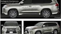 Lexus LX facelift leaked image / BaniyaCars