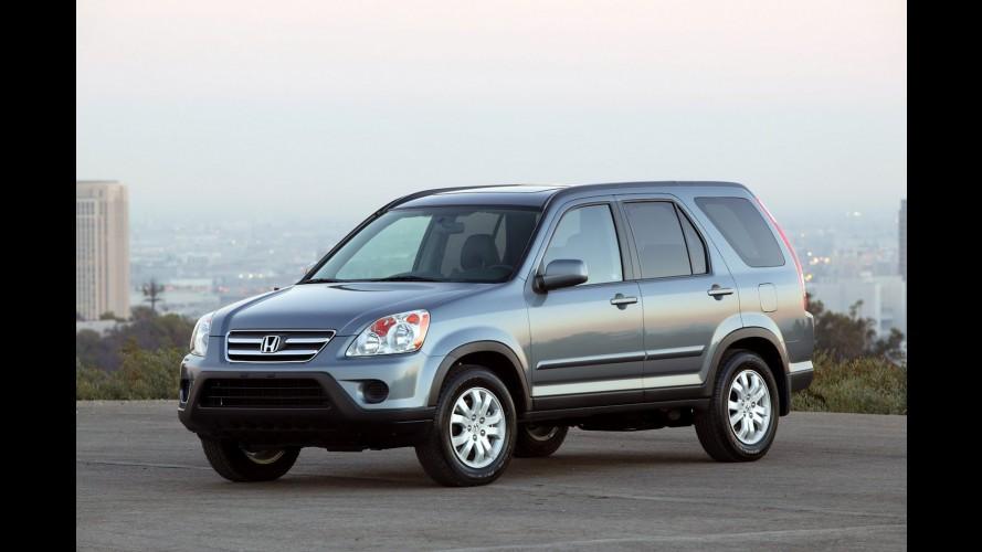 Honda convoca 1.300 unidades do crossover CR-V para recall nos EUA