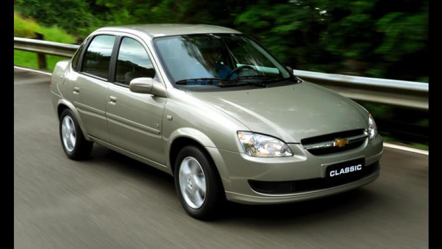 Argentina, agosto: Chevrolet Classic retoma liderança; veterano da VW é mais vendido entre sedãs médios