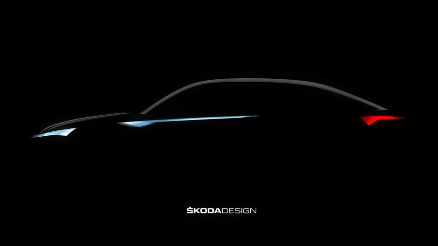 Skoda VisionE teaser'ı Kodiaq Coupe'yi işaret ediyor