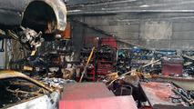 Nissan GT-R shop burns