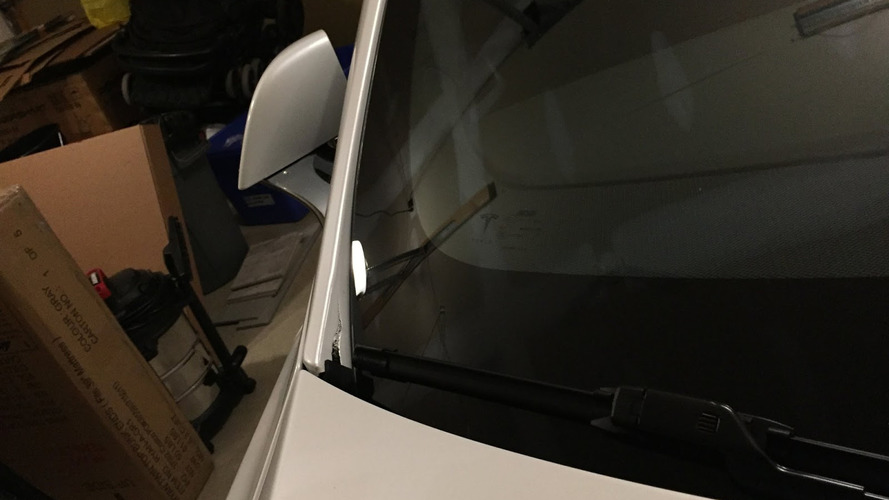 Tesla Model S Split A-Pillar