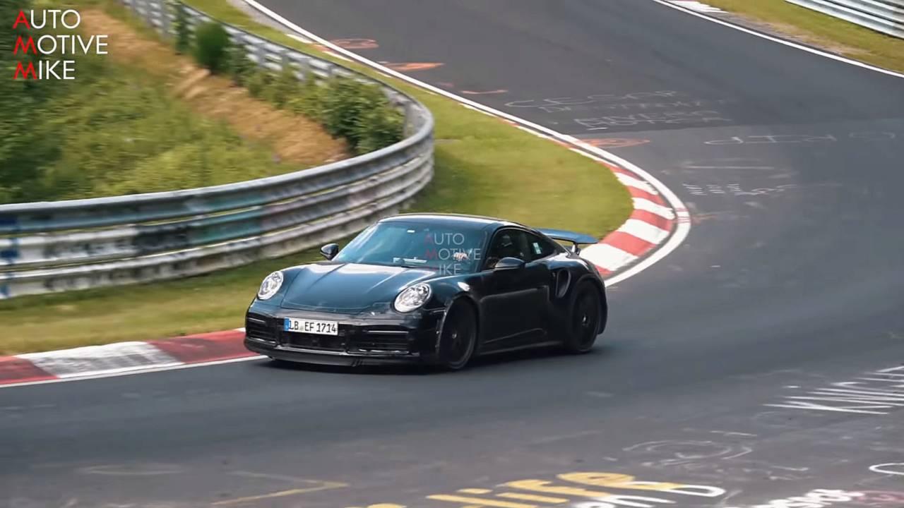 2020 Porsche 911 Turbo spy screenshot