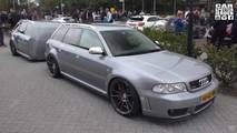 Audi RS4 Avant With Custom Trailer
