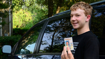Teenager with driver's licence