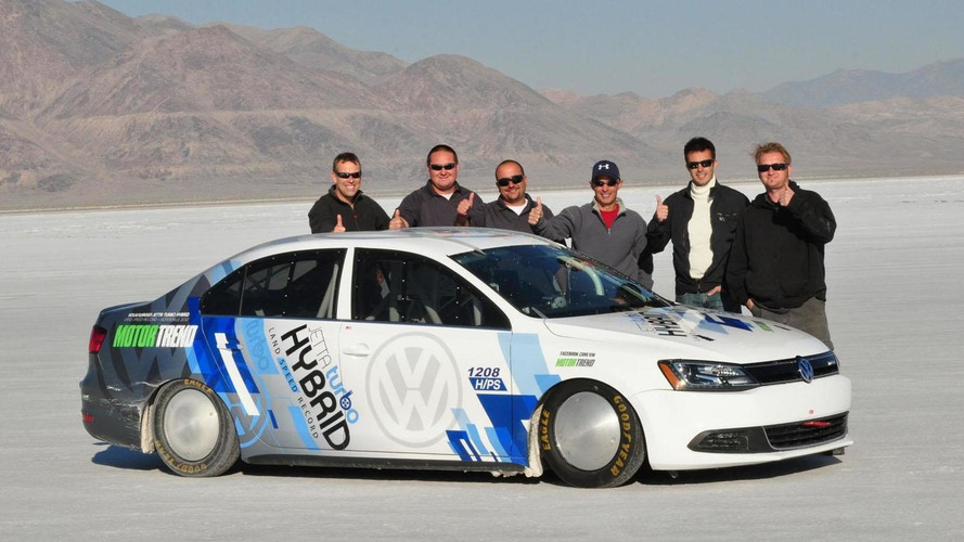 Volkswagen Jetta Hybrid sets a land speed record at Bonneville