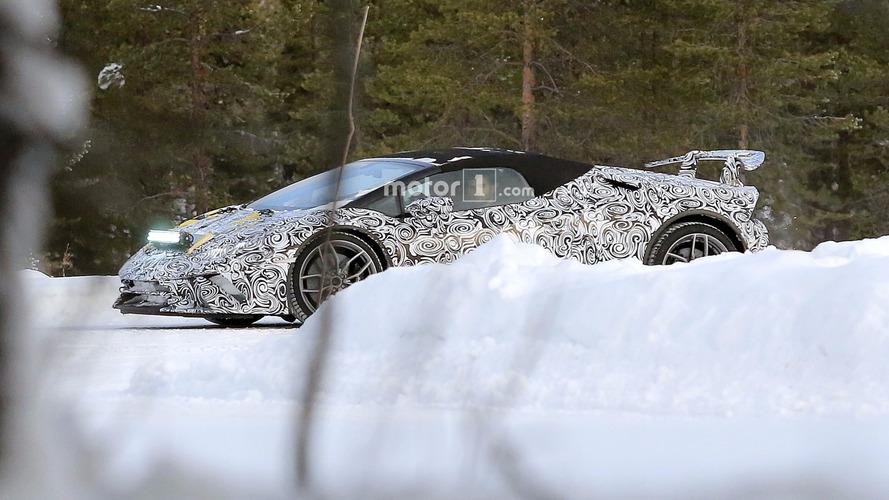 2018 Lamborghini Huracan Spyder Performante and Huracan Superleggera spy photos