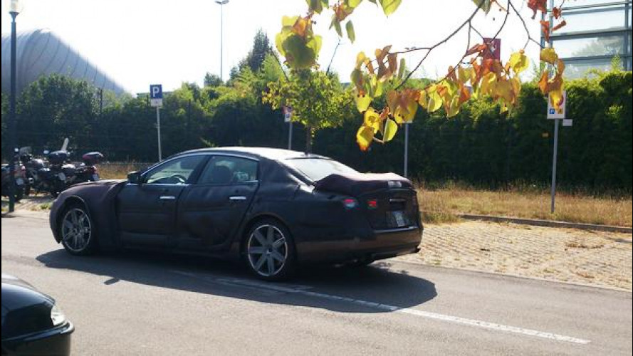Nuova Maserati Quattroporte, sorpresa negli ultimi test