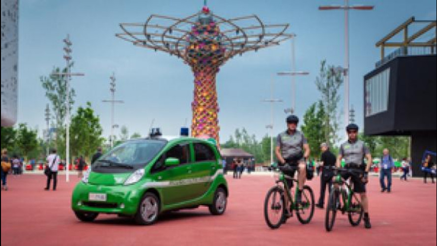 EXPO, c'è anche la Mitsubishi i-MiEV della Forestale