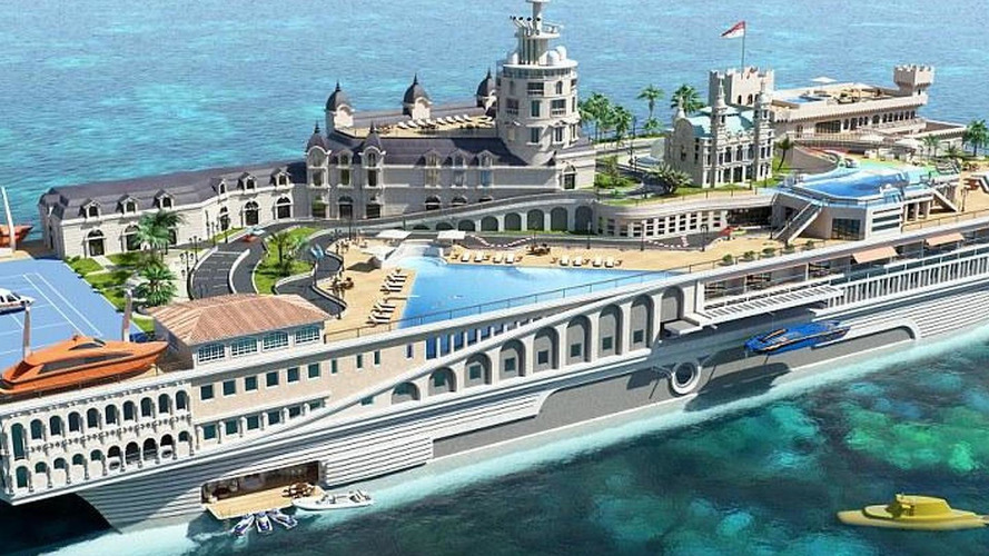 244M GBP super luxurious yacht to mimic Monaco and include a go kart track replica of the circuit