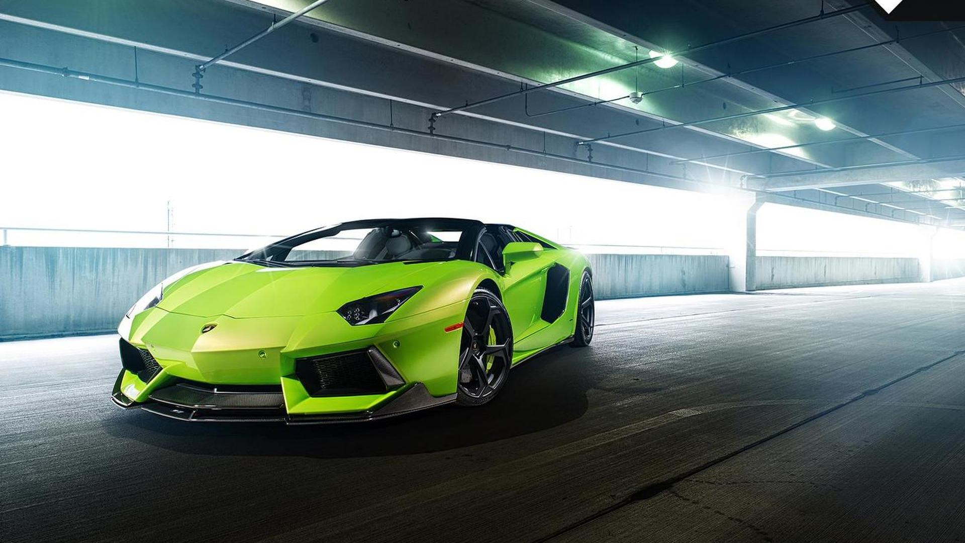 Суперкар Lamborghini Aventador-V Roadster The Hulk от Vosteiner