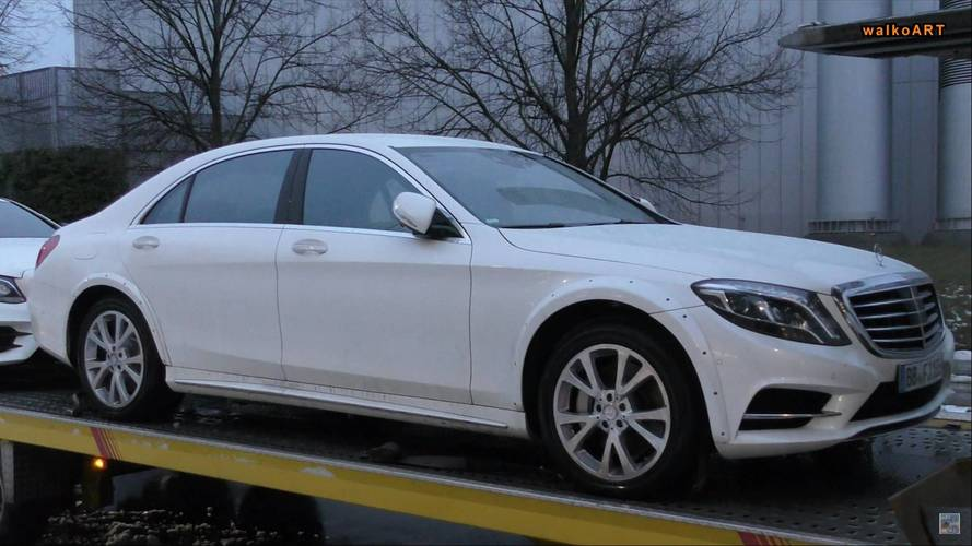 Mercedes S-Class Caught With Wider Wheel Arches Might Be Next Gen