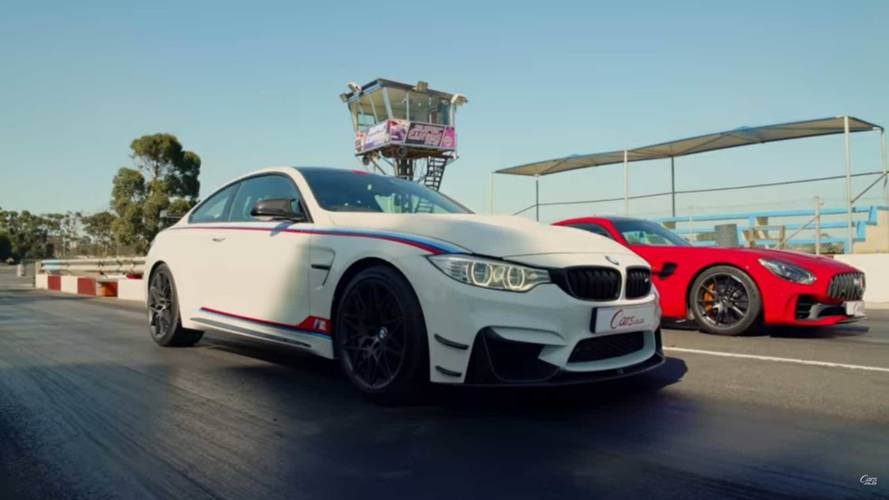 Photo Finish: AMG GT R Drag Races BMW M4 DTM Champion Edition