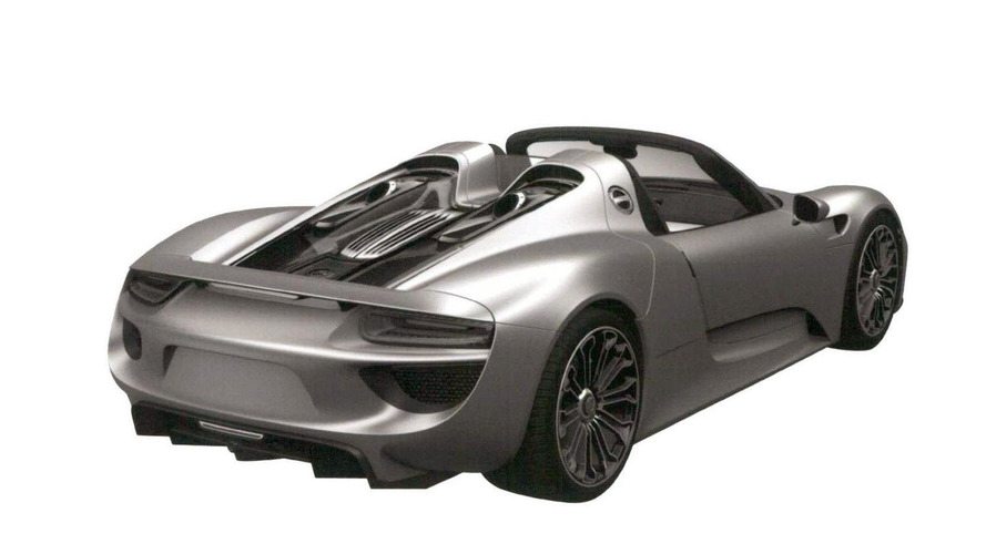 Porsche 918 Spyder production version trademark photos surface