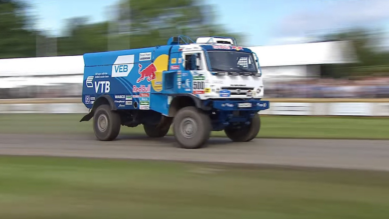 Red Bull Kamaz truck shows its raw power at Goodwood