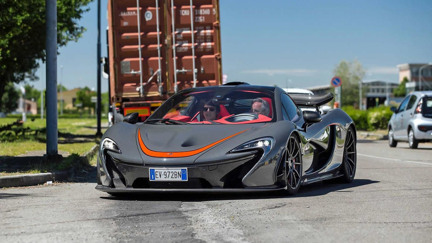 Horacio Pagani spotted driving McLaren P1 MSO