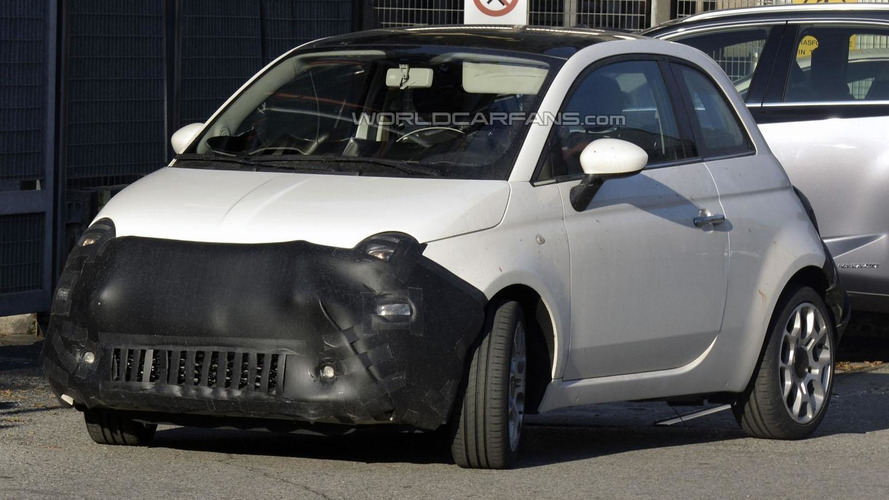 2016 Fiat 500 facelift spied for the first time