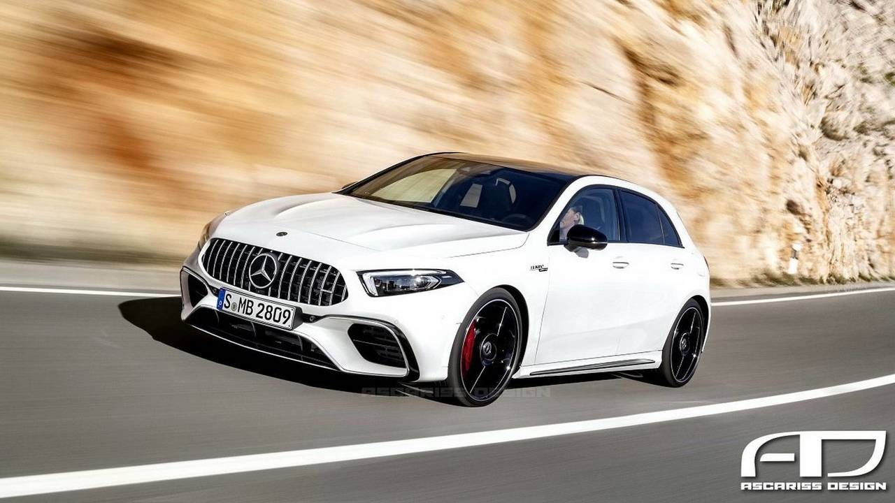 2019 Mercedes A45 AMG Rendering