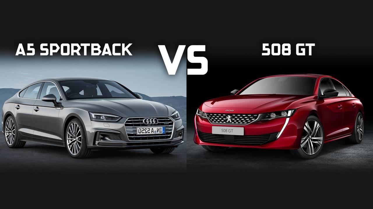 Audi A5 Sportback vs Peugeot 508