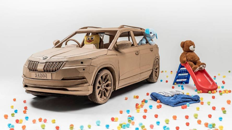 Skoda Karoq Fullsize Cardboard Is A Kid's Dream