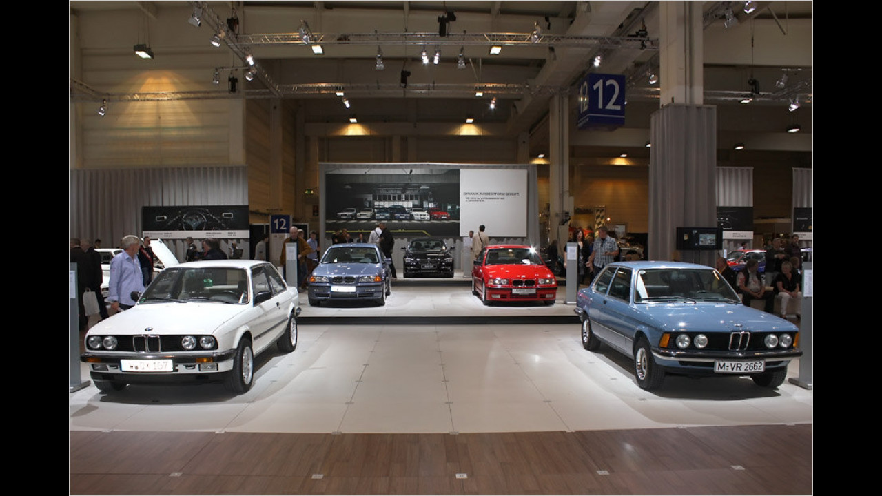 Sechs Generationen BMW 3er